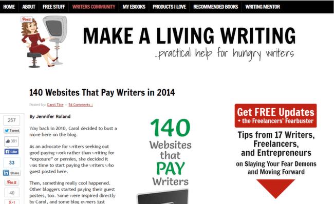 Making a Living Writing