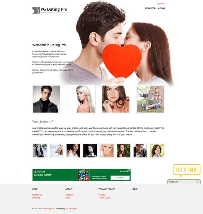 Example of DatingPro