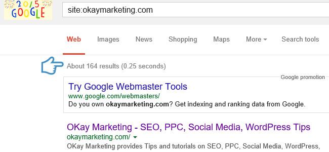 google index results