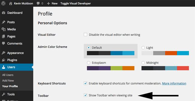 Show Toolbar