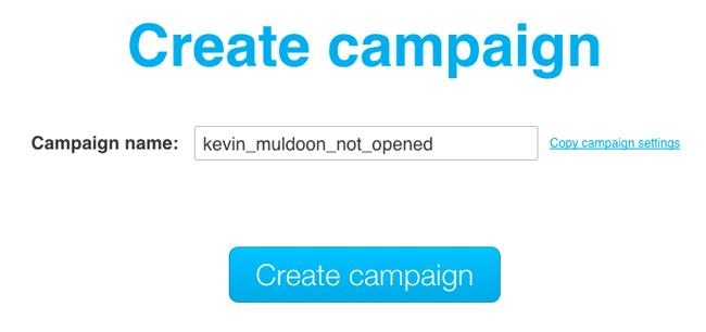 Create Campaign
