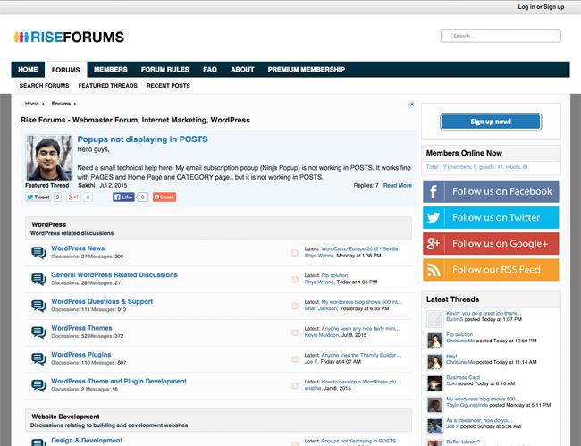 Rise Forums