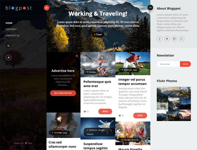 BlogPost WordPress Theme