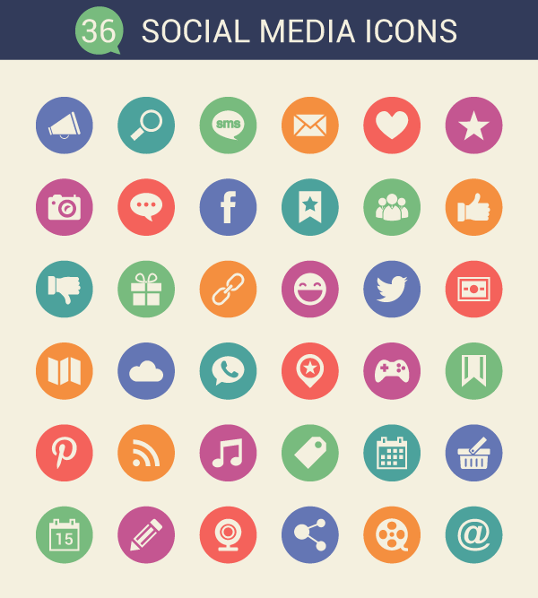Cool Social Media Icon Set