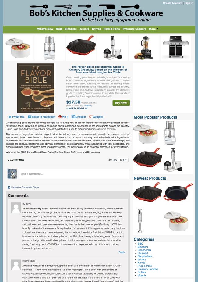 Bob's Kitchen Supplies Product Info