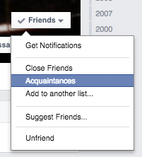 Assigning Friends to Lists