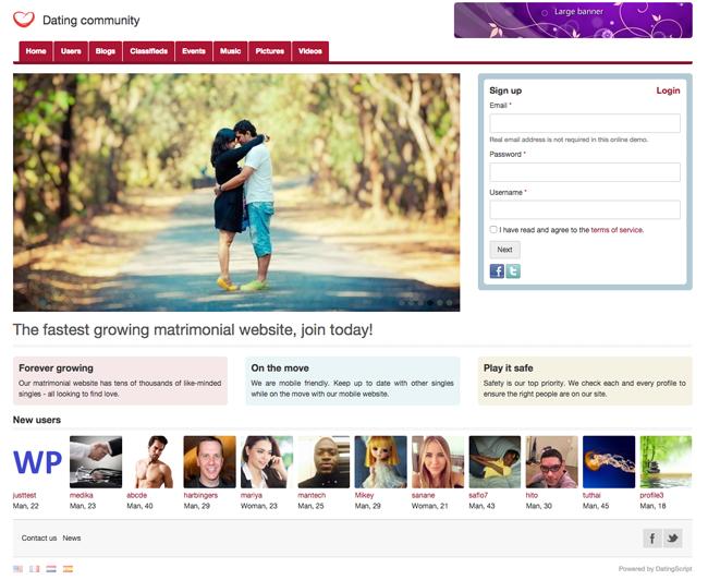 Matrimonial Home Page