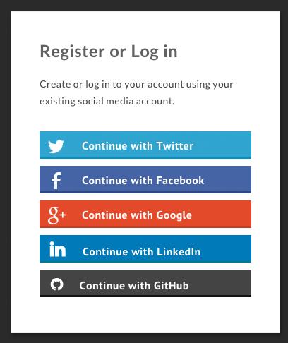 Social Media Login Form