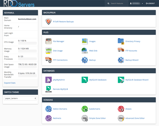 RDO Servers Hosting Control Panel