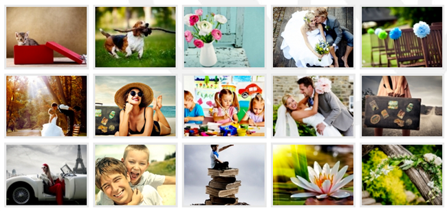 Photo Gallery Thumbnails Example