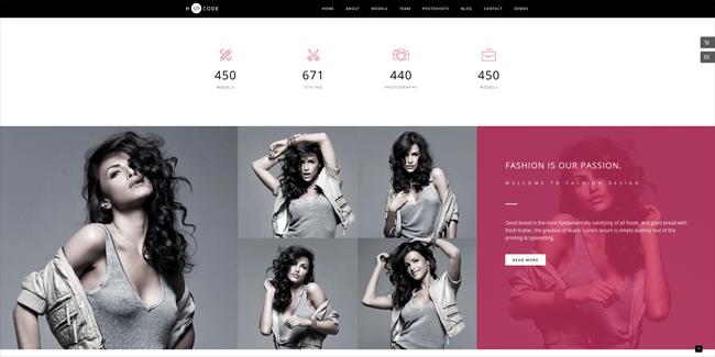 Fashion One-Page Design