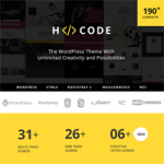 Create Beautiful WordPress Websites with H-Code