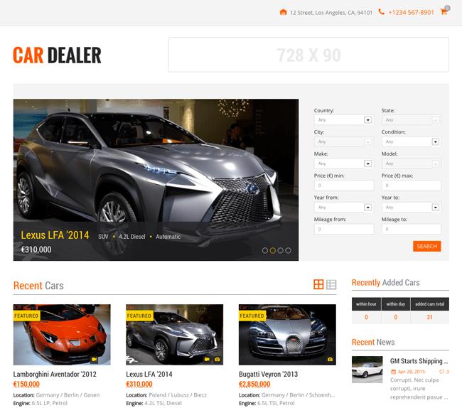 Car Dealer Home Page