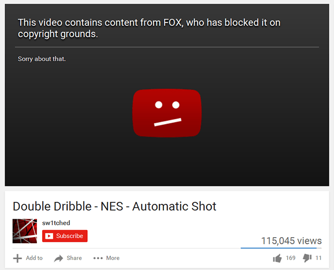 Double Dribble Video Blocked