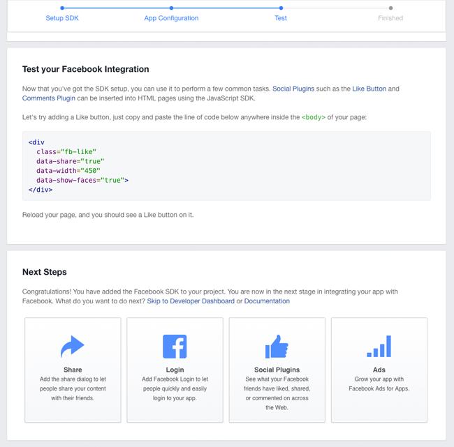 Facebook App Test