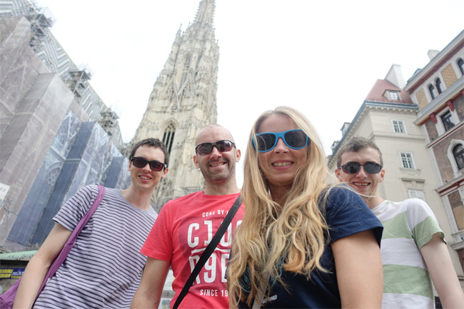 Group Selfie Outside Outside St. Stephen's Cathedral