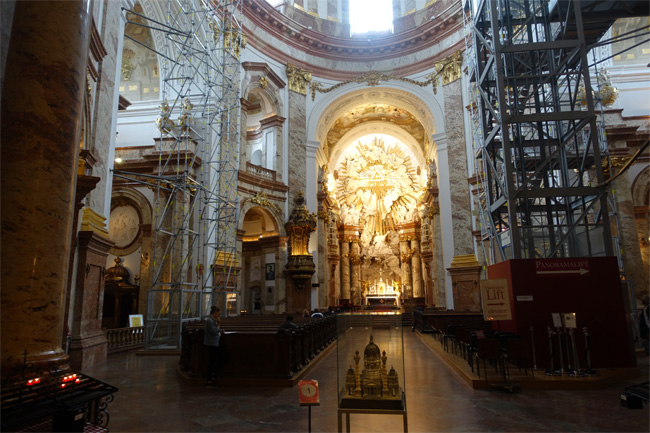 Inside Karlskirche