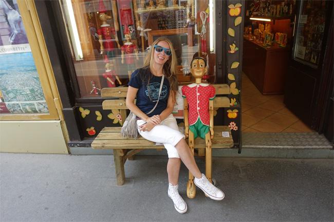 Lisa Next to Pinocchio