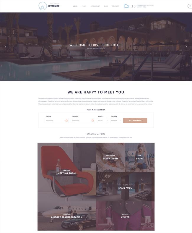 Riverside Resort WordPress Theme
