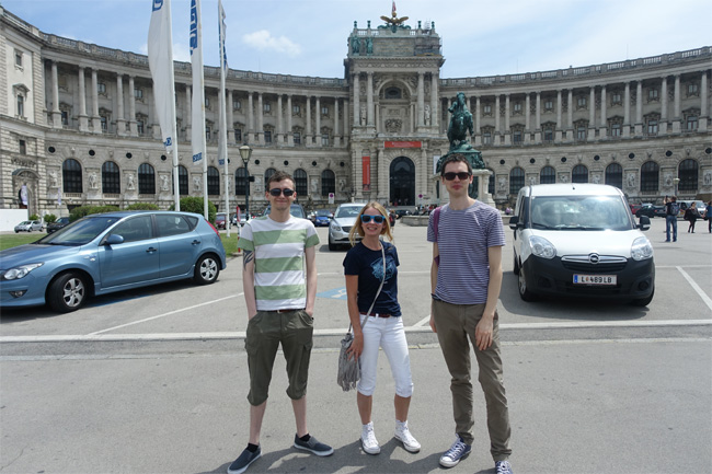 Outside of Hofburg Palace