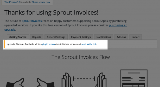 Sprout Invoices Review Offer