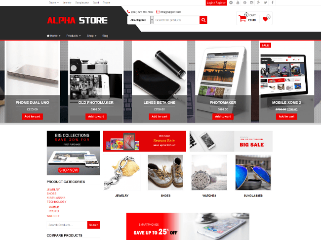 Alpha Store eCommerce WordPress Themes