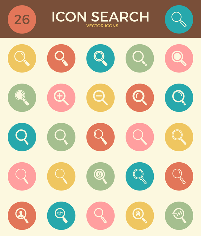 Icon Search Vector Icons
