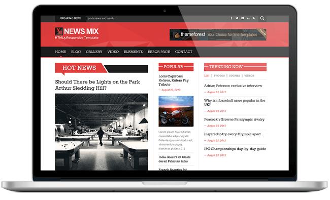 News Mix Free Magazine WordPress Themes