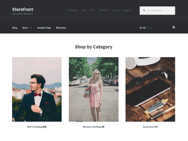 Storefront eCommerce WordPress Themes