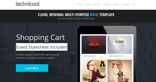 25 Excellent Adobe Muse Templates