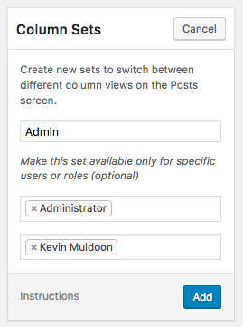 Add Column Set