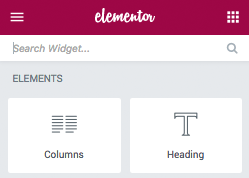 Elements and Widgets
