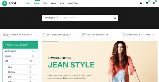 Adot WordPress Theme