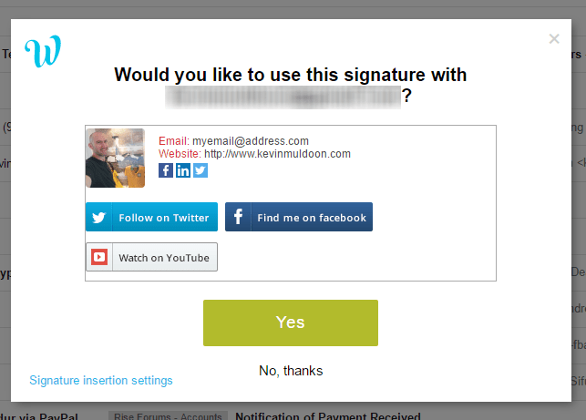 Confirm Your Gmail Signature