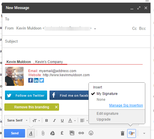 Gmail Signature Example