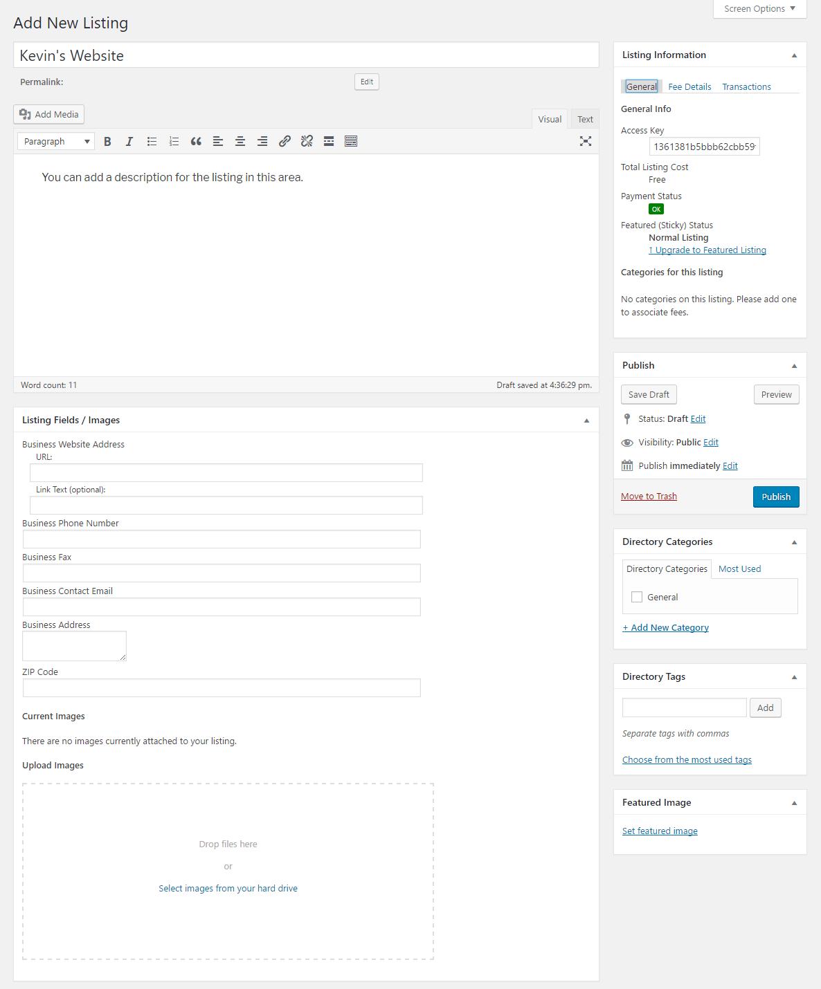 Add Directory Listing Manually
