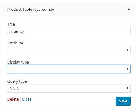 Layered Nav Widget