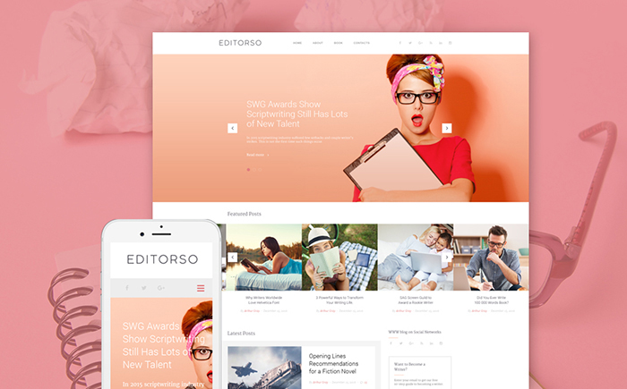 Editorso – Journalist Blog WordPress Template