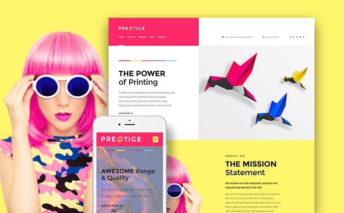 resstige – Digital Printing Company Responsive WordPress Template