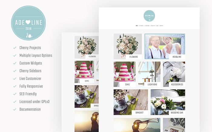 Adeline - Young Couple Photo Album Photography WordPress Theme