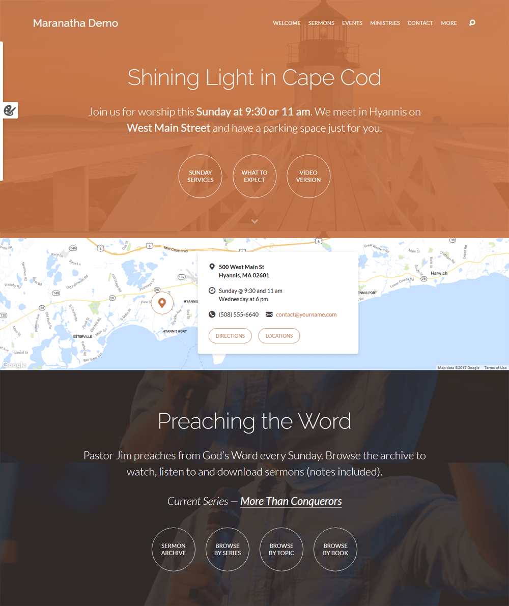 Maranatha WordPress Theme