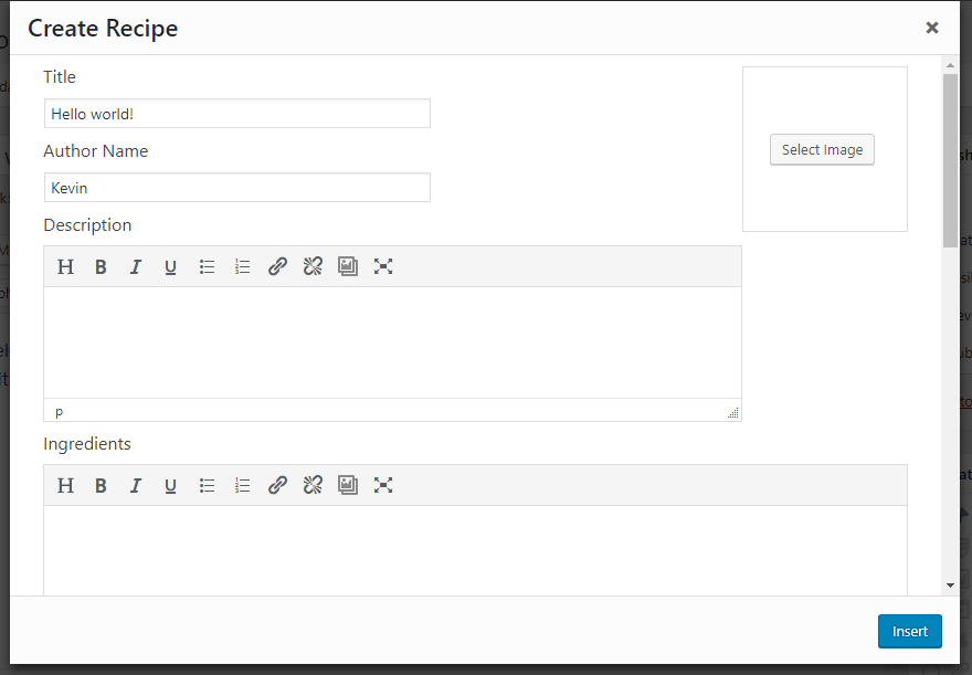 Create Recipe Box