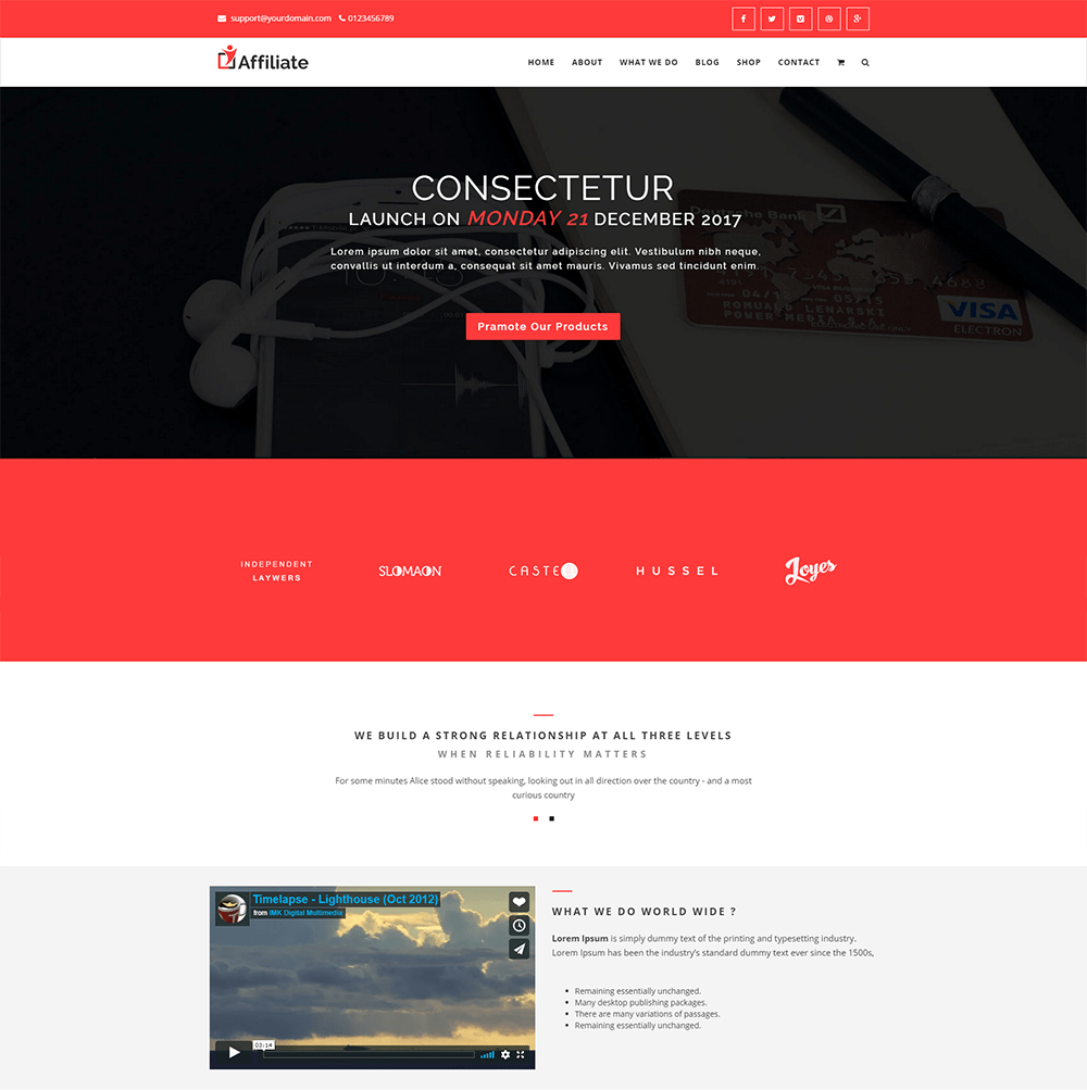 JVs Internet Marketers Affiliate WordPress Theme