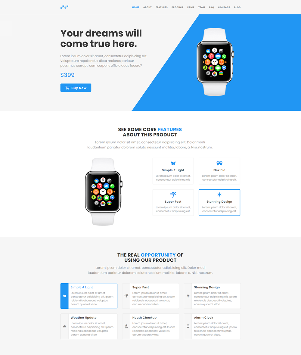 Blue - WordPress Product Landing Page Theme