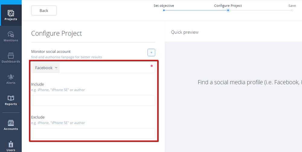Configure Facebook Project