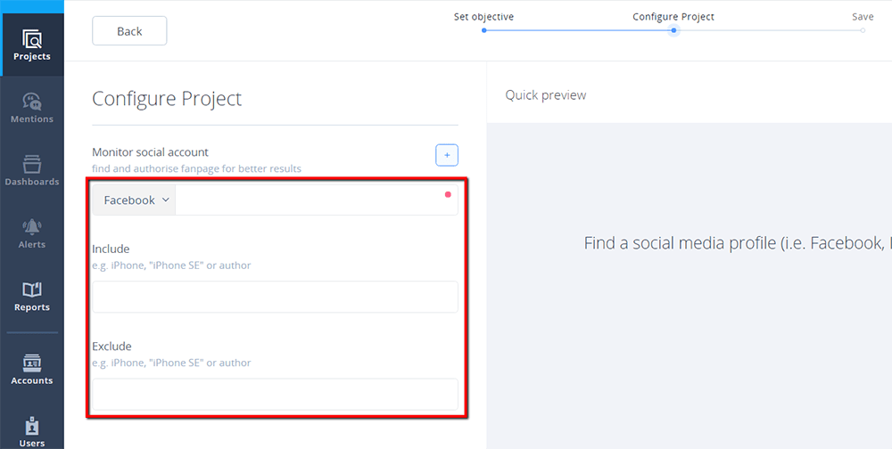 Configure Facebook Project