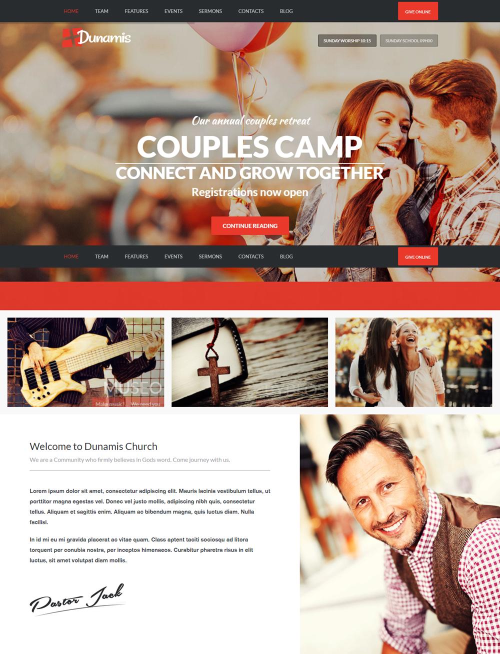 Dunamis WordPress Theme