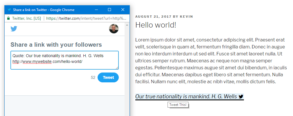 Inline Tweet