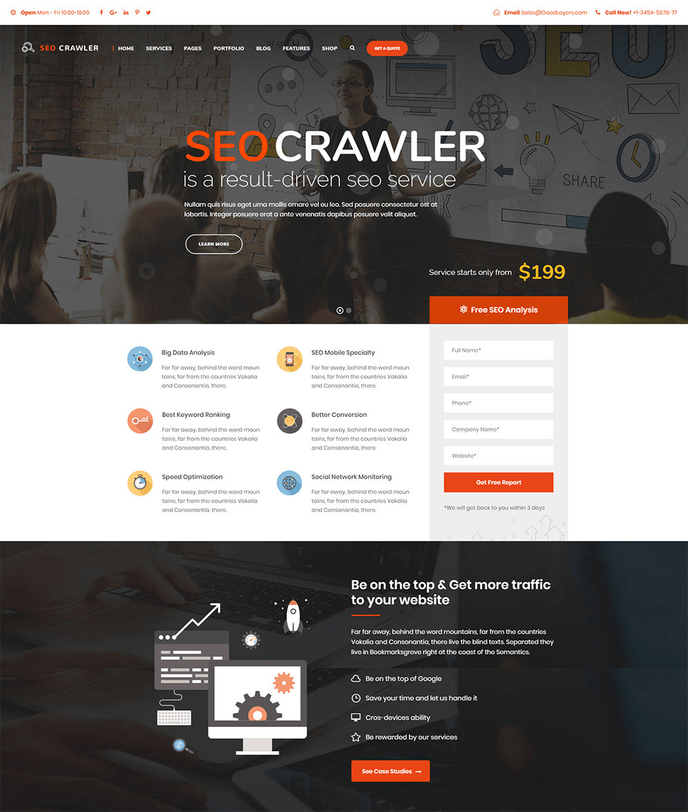 SEO Crawler Digital Marketing WordPress Theme