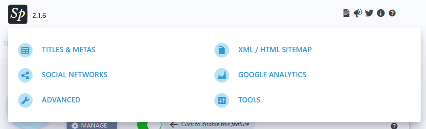 SEOPress Dropdown Menu